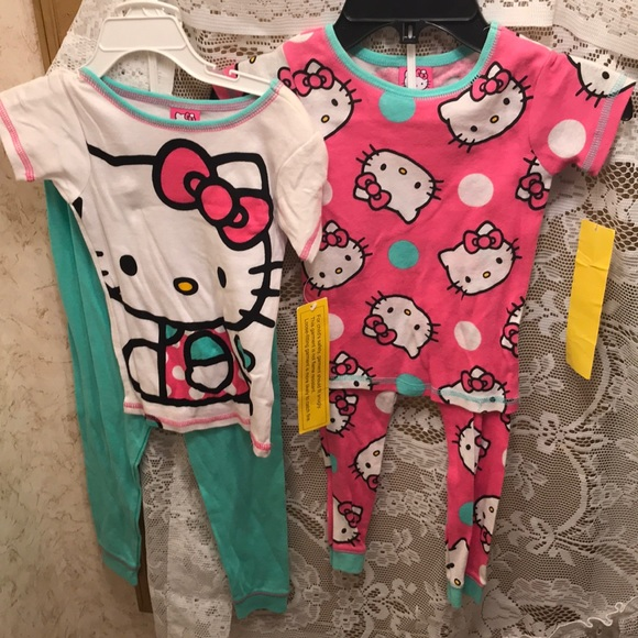 2 NWT sz 4 hello kitty pajamas. M 5c254006df0307f9d9411d0a 59d088f1d
